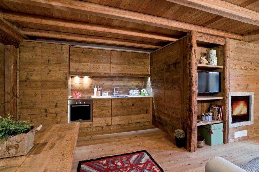 Falegnameria hermann zona giorno for Case di legno rustico